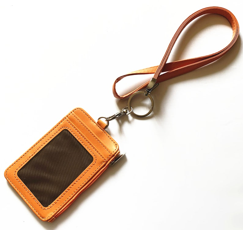 Leather Necklace Lanyard and Vertical Wallet
