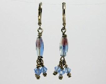 Beautiful Light Blue Swarovski Earrings
