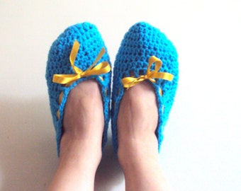 SALE! Crochet Slippers Crochet Flats Soft and Comfortable Indoor Shoes House Shoes Spa Slippers
