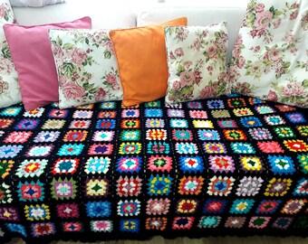 Granny Square Blanket Etsy