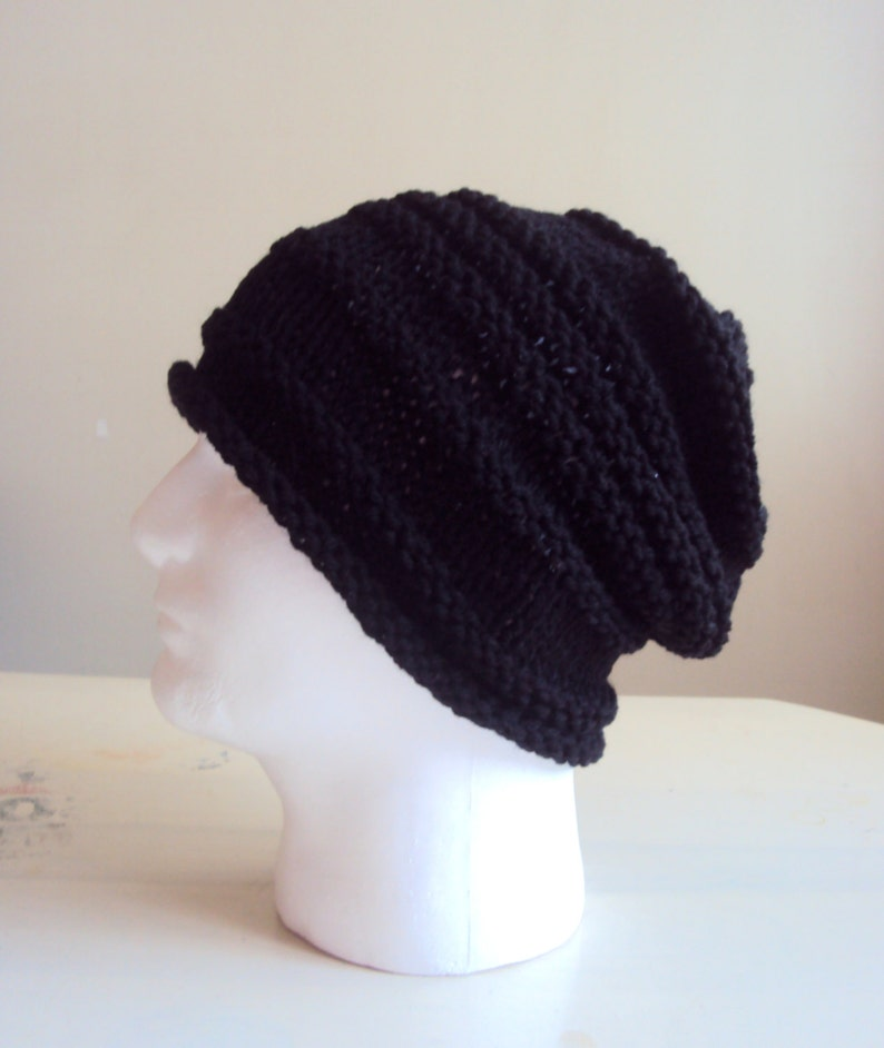 bc9545fb916 Mens Knit Slouchy Beanie Celebrity Hat Slouchy Hat Winter Hats