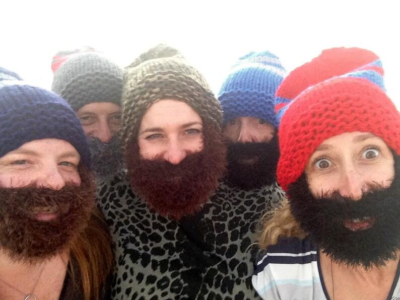 892b5169405 Men Women Beard Hat Chunky Beanie Face Mask Winter Hat