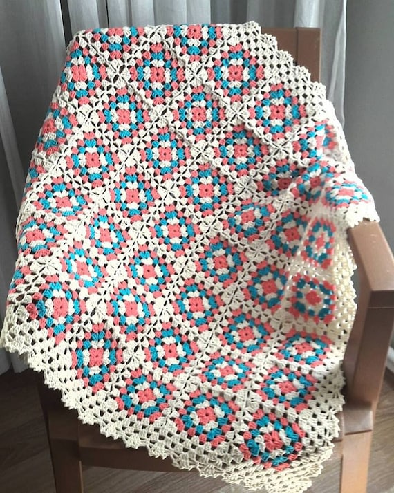 Crochet Afghan Blanket Granny Square Blanket Baby Blanket Baby Etsy