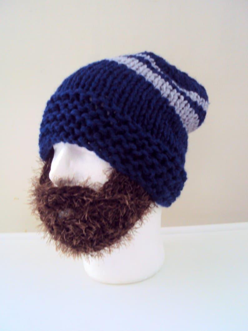 10d1a08fa46 Mens Chunky Beard Hat Beanie Knit Beanie Face Mask Winter Hat