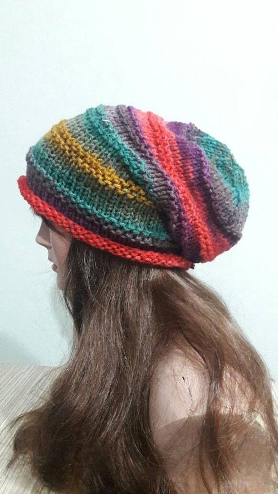 SALE Women Slouchy Beanie Baggy Hat Dreadlock Hat Rasta Hat  0774e3705c7b