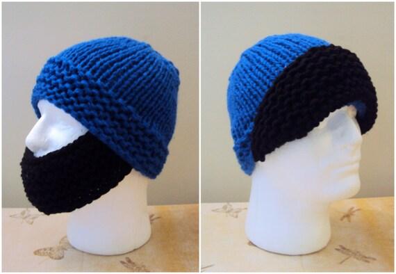 3bdee844fc6 Men Beard Hat Chunky Knit Beanie Versatile Winter Hat Ski Mask