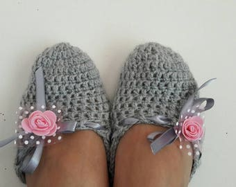 SALE! Crochet Slippers Crochet Flats Indoor Shoes House Shoes Women Fashion Accessories Bridal Gift Handmade Gift Ideas