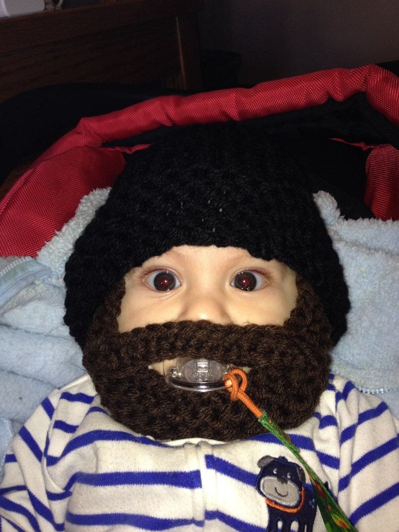 27c56f7e0 CHRISTMAS in JULY SALES! Baby Girls/Boys Beard Hat Baby Beanie Baby Hat  Knit Baby Hat Face Mask 0-18 months