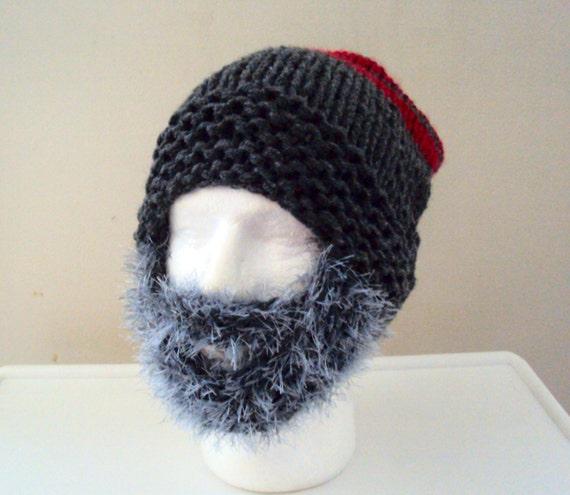 dae434d6cdd CYBER WEEK SALES Chunky Beard Hat Beanie Mens Knit Beanie