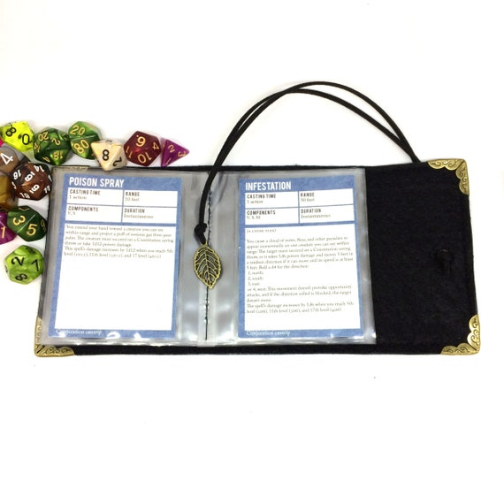 Dungeons and Dragons 24 Card Custom Lime Green Spellbook