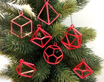 D&D Dice Christmas Ornaments- Dungeons and Dragons