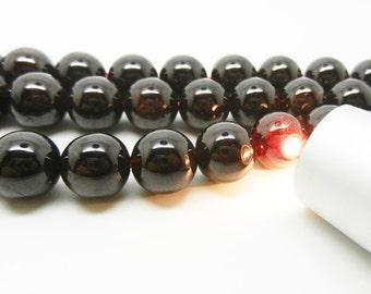 """15.5""""  Natural Garnet Bead , Garnet  Round  Bead , Red Garnet Gemstone -- 10mm"""