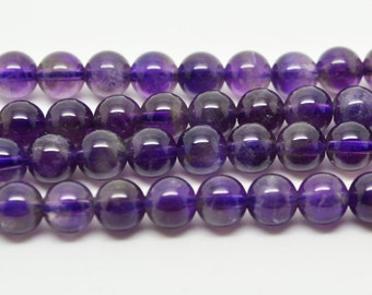 "16""  South  African  Amethyst  Crystal   Beads  6mm Round Beads"
