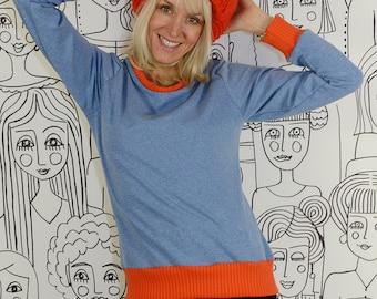 ecf5c540f36 Pulli soft JEANSY RED pink mustard sweater tight sweater sweater color  blockingWomen s sweater jumper bonnie and buttermilk Bonnie   Buttermilk  retro