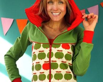Apple Green Hooded Jacket