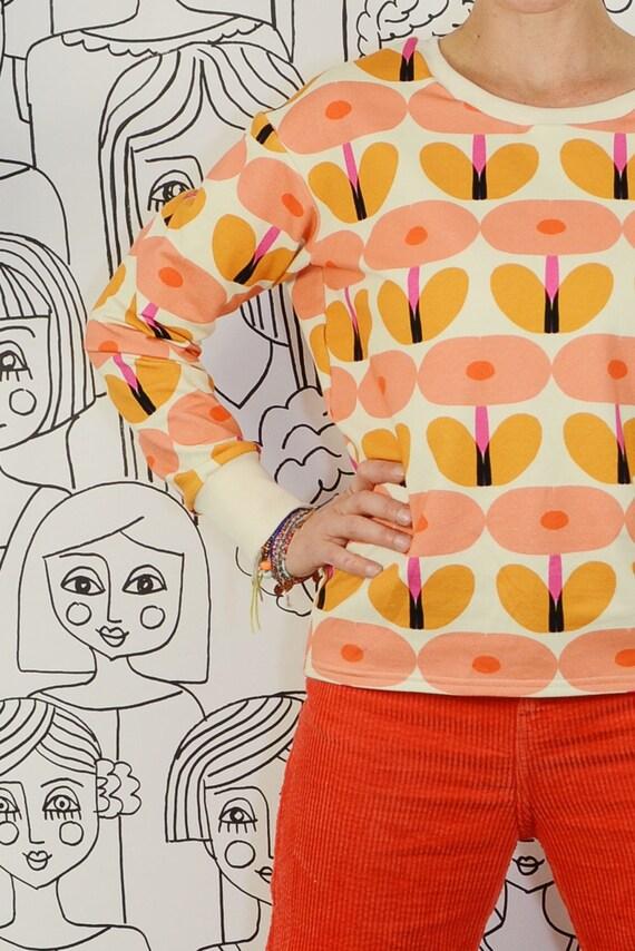 f260c79fbf87df Casual sweater sweatshirt Patterned edie Pink   Etsy