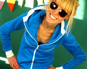 "Hooded jacket ""Miri goes Blue"""