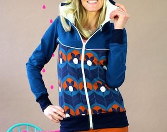 "Hooded jacket ""TIGERLILY Blue"""