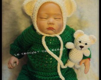 5c922d03c37f bonnet bébé +petit ourson