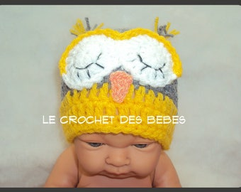 bonnet hibou bébé