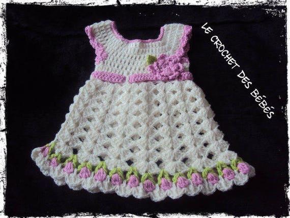 Robe Crochet Bébé Sur Commande