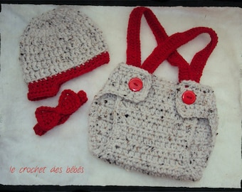 set Hat layered bow available in size newborn