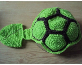 """outfit costume turtle """"baby"""" 100% handmade (only on order)"""