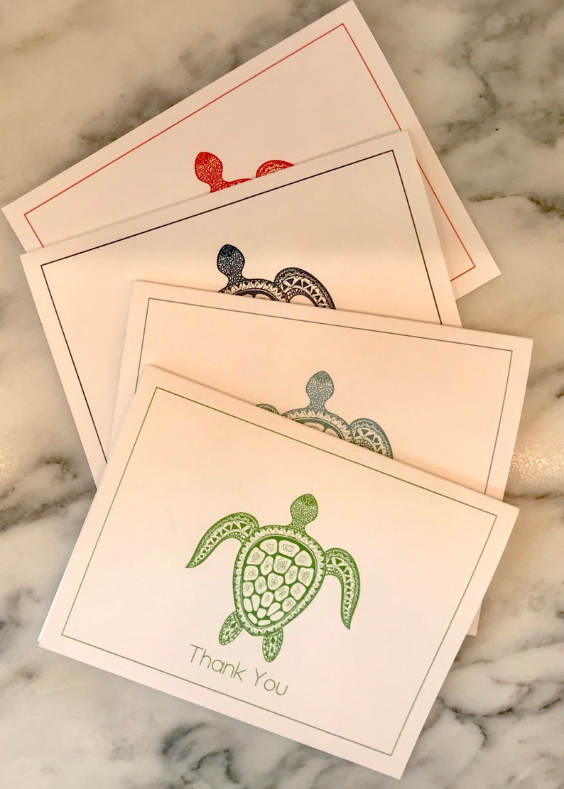Set of 10 Turtle Thank You Cards