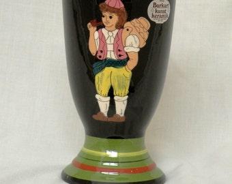 Vintage Burkart Kunst Keramik - Swiss Folk Art Pottery Mug
