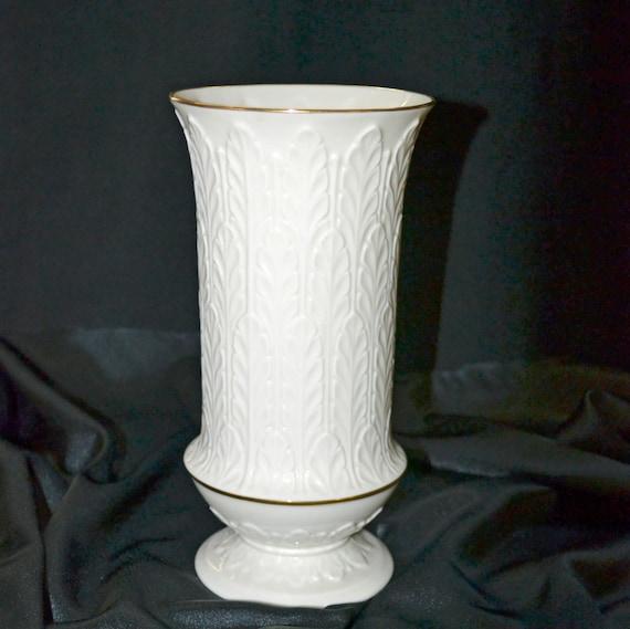 Vintage Lenox Vase Autumn Leaf Gold Trim Etsy