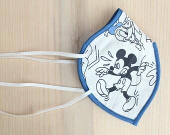 Stoffmaske mit Bügel und Gummibändern Mickey Mouse Donald Duck