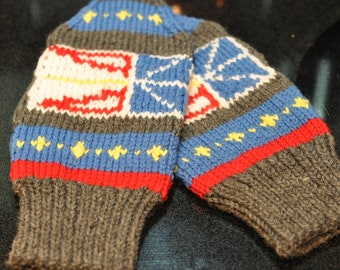 Hand Knit Newfoundland Mittens