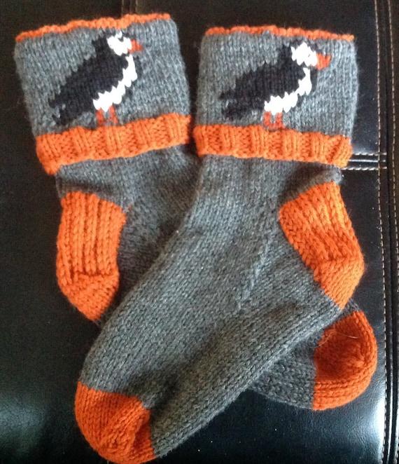 Newfoundland Puffin Socks Etsy