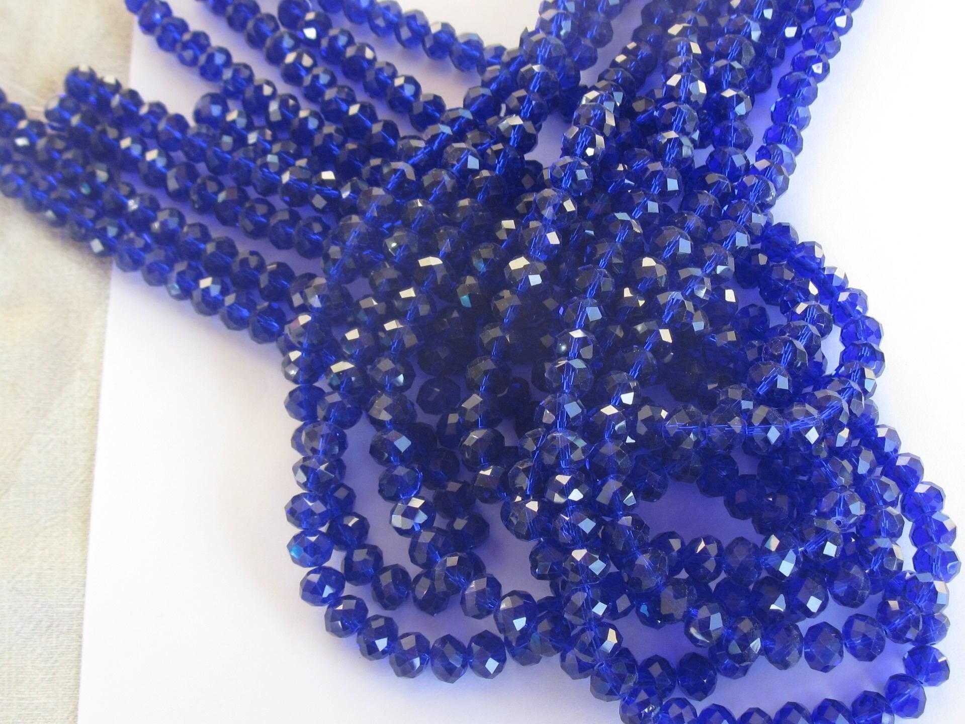 16 perles en verre facette couleur bleu saphir 10mm 49. Black Bedroom Furniture Sets. Home Design Ideas