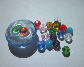 17 (N12) multicolored glass beads