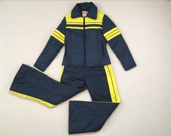 ade334798d Yellow ski suit