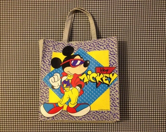 f76a7cc061b 1980 s, cool guy, Mickey Mouse, canvas, tote bag