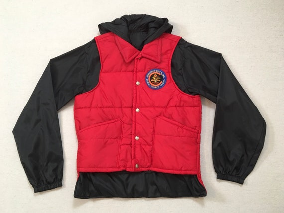 Nylon with Red White Ska Patch Size L Men Zip Up GREAT LAKES SPORTSWEAR Windbreaker Marlboro Racing Hot Road 70s Made in the Usa