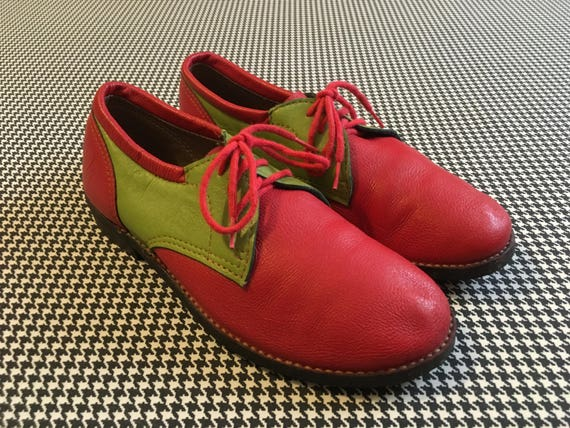 jelly oxfords in earthy mauve Women/'s size 8 rubber 1970/'s