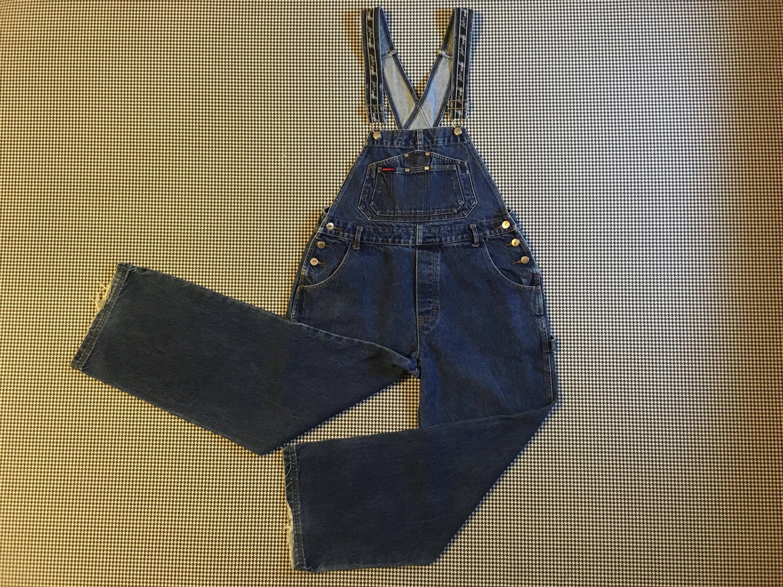Vintage Overalls & Jumpsuits 1990s. Wide Leg, Denim, Overalls, By Fubu, Boys Size Large, Womens Size Medium $0.00 AT vintagedancer.com