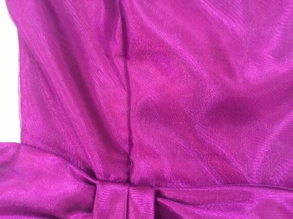 1990's, strapless, big bow, formal, mini-dress, i… - image 4