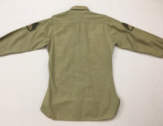 1960's, Staff Sergeant, Military shirt, in khaki - image 10