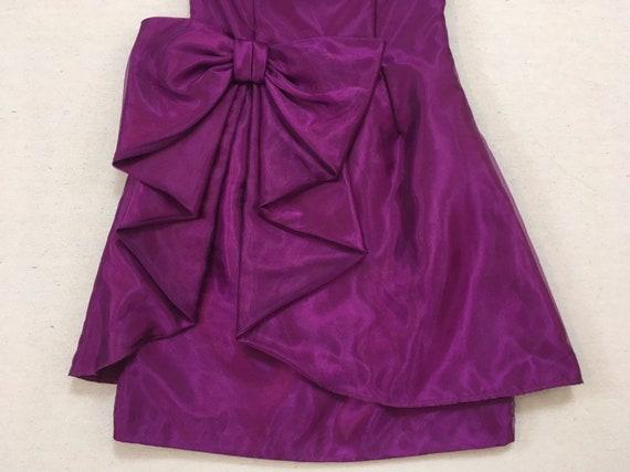 1990's, strapless, big bow, formal, mini-dress, i… - image 6