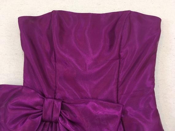 1990's, strapless, big bow, formal, mini-dress, i… - image 2