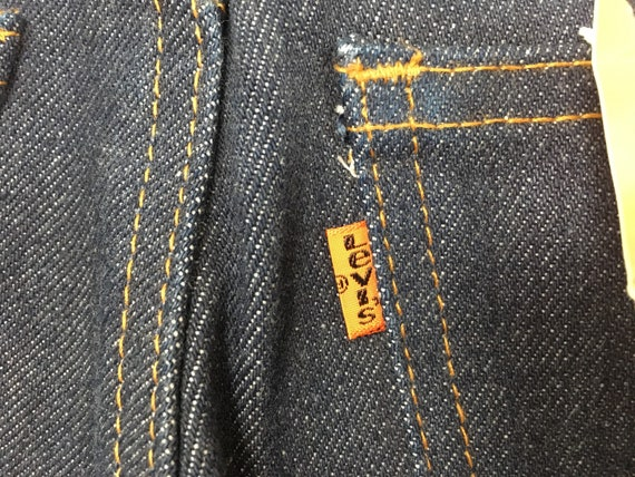 1970's, Levi's, dark denim, bell bottoms, size 27… - image 10