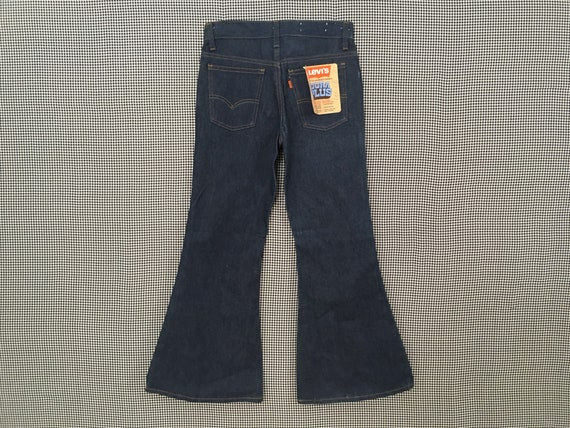 1970's, Levi's, dark denim, bell bottoms, size 27… - image 7