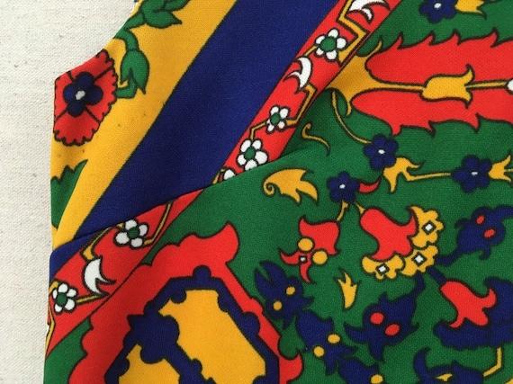 1970's, sleeveless, polyester, maxi dress, in nav… - image 4