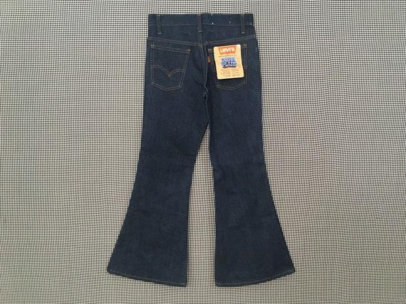 1970's, Levi's, dark denim, bell bottoms, size 27… - image 7