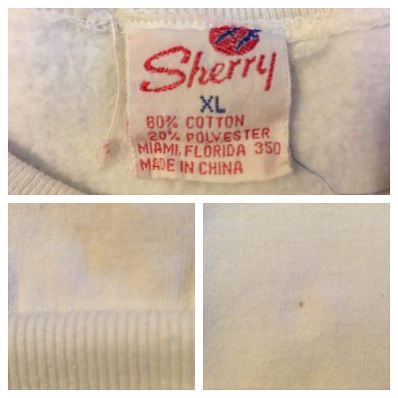 Mickey Mouse \u201cSan Antonio,\u201d sweatshirt in white 1980/'s Women/'s size Large