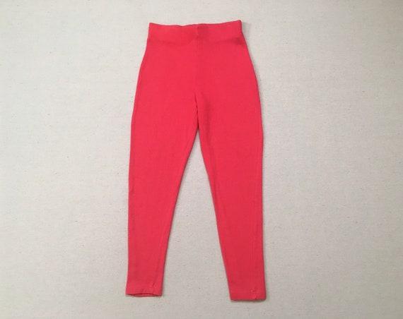 1990's, cropped leggings, in hot pink
